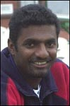 Portrait of Muttiah Muralitharan