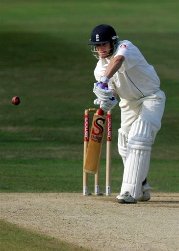 Chris Read plays a cover drive