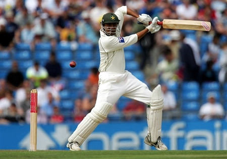 Younis Khan plays a cut shot