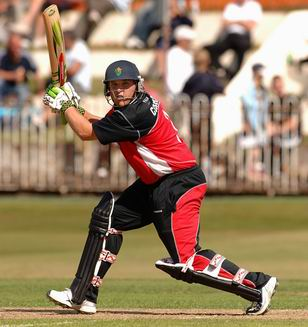 Mark Cosgrove plays a ball square of the wicket