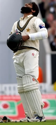 Mohammad Yousuf celebrates his century