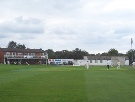 View of Rotherham Town CC Ground with pavilion
