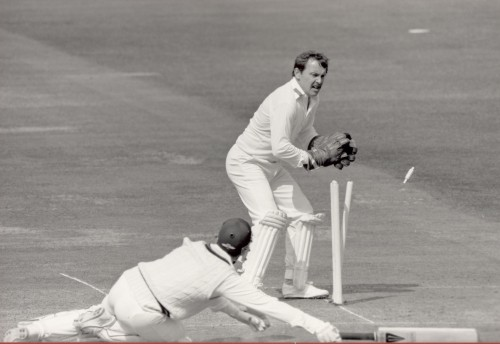 Ian Gould keeping wicket