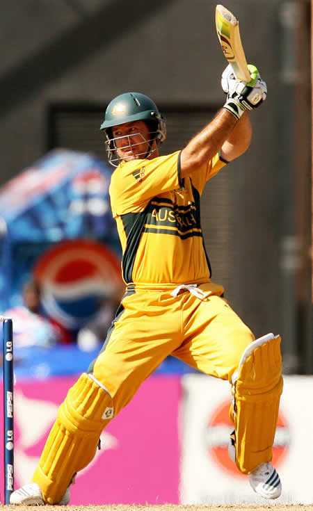 Ricky Ponting plays a cut shot