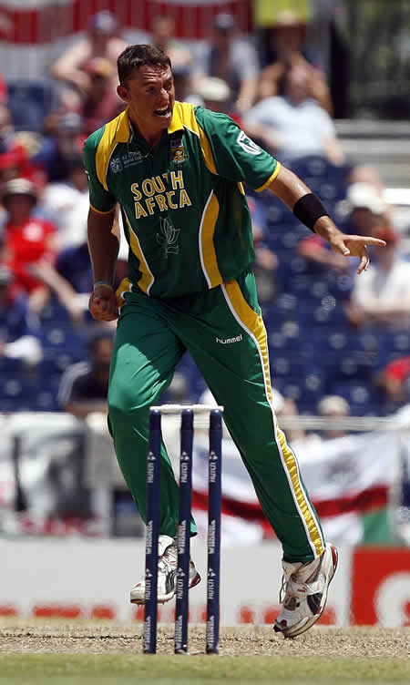 Andre Nel celebrates the wicket Panesar