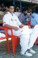 Kanitkar waiting for his turn
