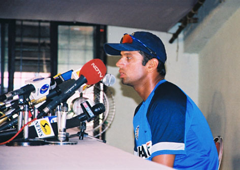 Rahul Dravid addressing the Media