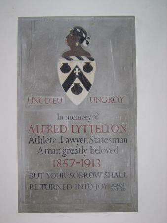 Memorial to Alfred Lyttelton