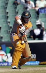 Mike Hussey in action