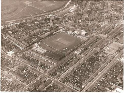 Aerial view of Grace Road in 1975