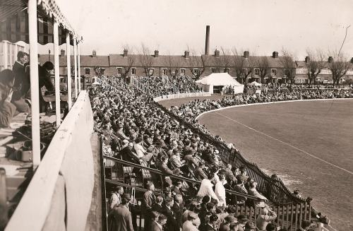 The crowd for the 1956 Australians match