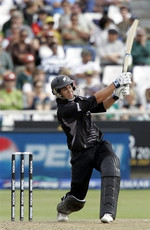 Ross Taylor plays a shot