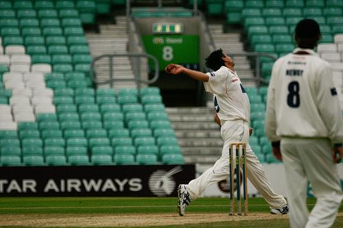 Sajjid Mahmood against Surrey