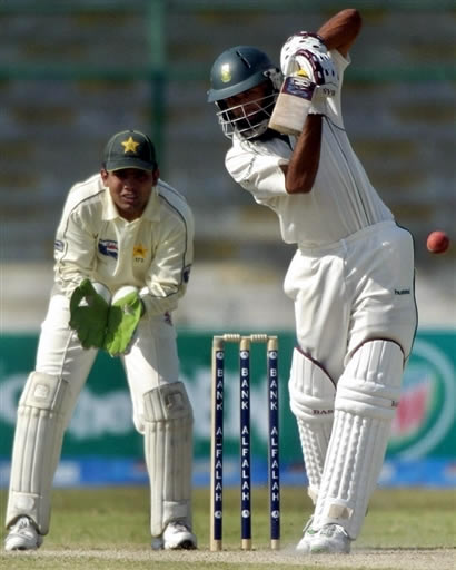 Hashim Amla plays a shot