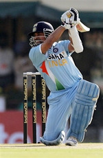 Sachin Tendulkar plays a shot