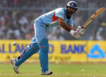 Yuvraj Singh plays a shot