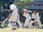 VA Jagadeesh playing an Off drive