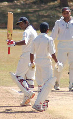 Sreekumar Nair Acknowledging the crowd on completing his 150