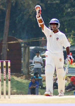 Sreekumar Nair Acknowledging the crowd on completing his 200