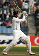 VVS Laxman plays a cut shot