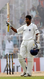 Wasim Jaffer celebrates his double-century