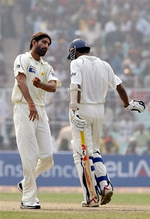 Sohail Tanvir celebrates the wicket of Wasim Jaffer