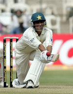 Younis Khan plays a reverse sweep