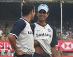 Irfan Pathan has a chat with RP Singh