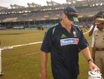 Mathew Hayden walks back