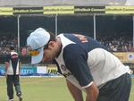 Yuvraj Singh during practise session