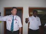 Match Referee Chris Broad and Umpire SA Bucknor