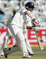 Saurav Ganguly plays a cover drive