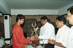 SK Nair giving a memento to S Sreesanth