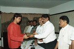 S Sreesanth receives the award from SK Nair