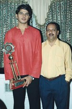 S Sreesanth with his first coach P Sivakumar