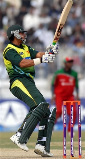 Nasir Jamshed plays a cut shot