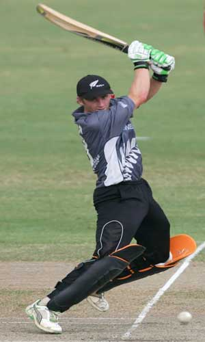 KS Williamson in action against India