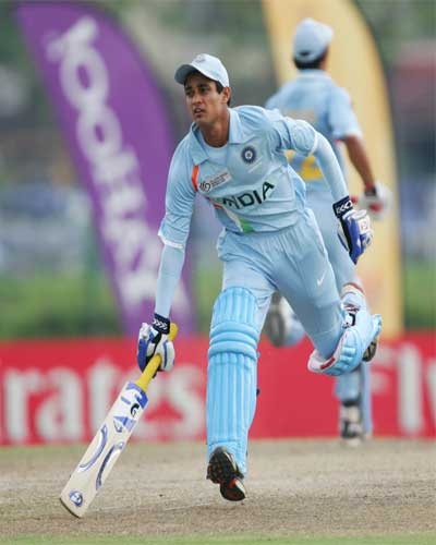 Siddharth Kaul in action against South Africa