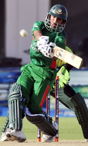 Shakib Al Hasan plays a shot