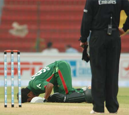Mohammad Ashraful on his century