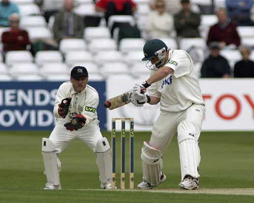 David Hussey in action