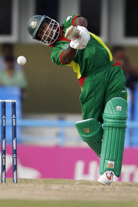 Aftab Ahmed plays a shot during their World Cup