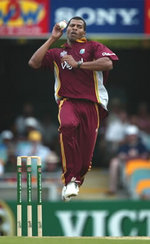 West Indies pacer Mervyn Dillon bowling