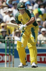 Ricky Ponting about to hit a fine cover drive
