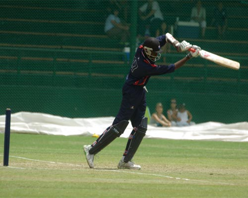 Ramon Sealey on his way to 66 not out