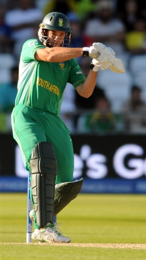 Albie Morkel plays a shot in warm-up match against Pakistan