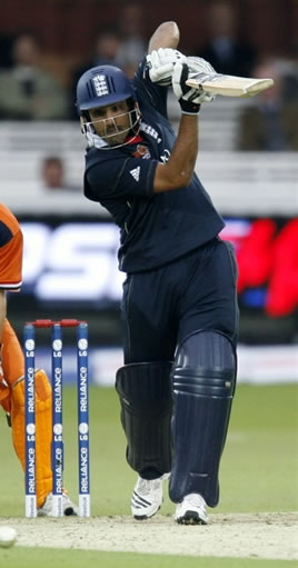 Ravi Bopara plays a shot