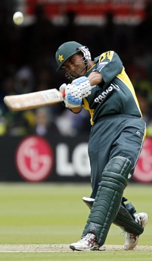 Younis Khan hits a six