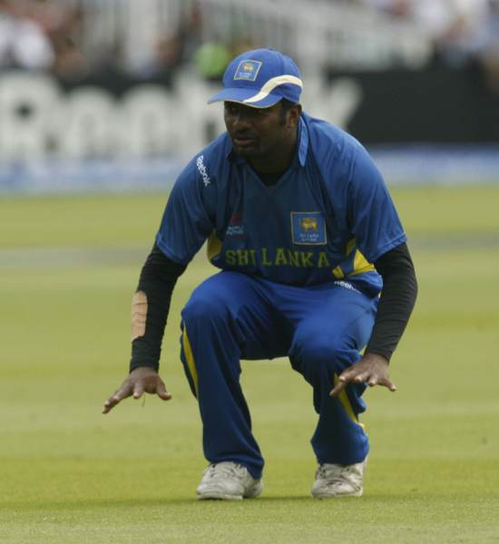Muralitharan on field
