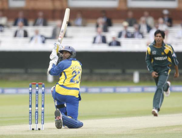 Dilshan playing a shot